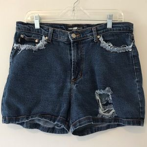 Parkers Jeans Distressed Denim Jean Shorts